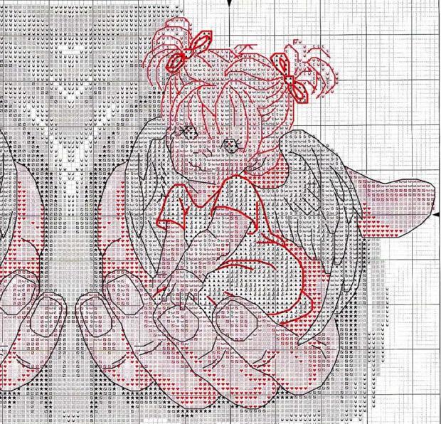 Схема вышивки на руке у бога 107