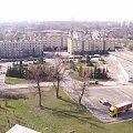 Widok z bloku na ulicy Lasówka Kraków marzec 2007 #kraków #miasto #wieżowiec #lasówka #koszykarska #widok #bloki #osiedle #mord