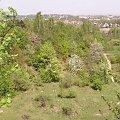 Widok ze skałek, na zakrzówku . Kraków 2006 #dach #skałki #zakrzówek #kraków #widok #blok