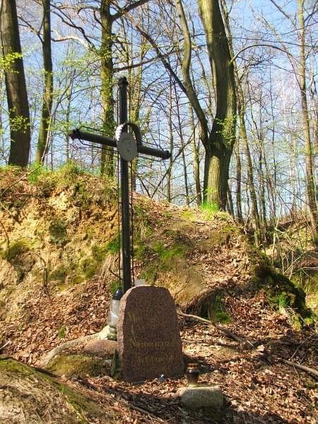 Wąwóz Zadole - pomnik poległego partyzanta #Zadole #LasStocki