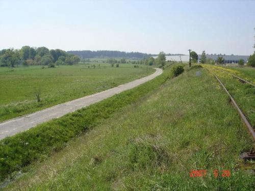 Widok z Kokoszek w kierunku Leźna