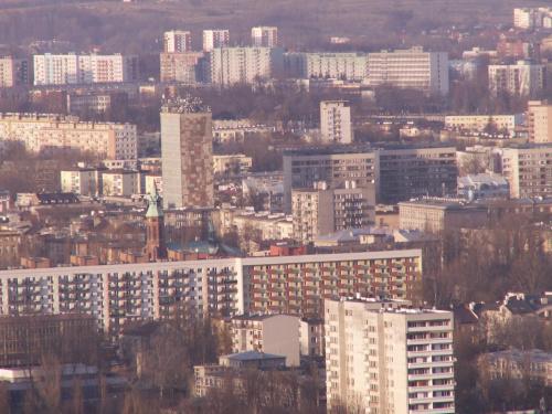 Kopiec Kościuszki Kraków 1-04-2006 #kopiec #kościuszki #widoki #bloki #biprostal